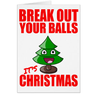Break out your balls, it's Christmas Card