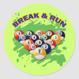BREAK & RUN CLASSIC ROUND STICKER
