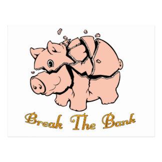 Break The Bank Postcard