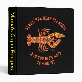 "Break the Head Crawfish 1"" Binder"