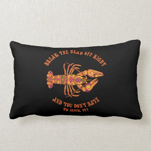 Break the Head Crawfish Lumbar Pillow