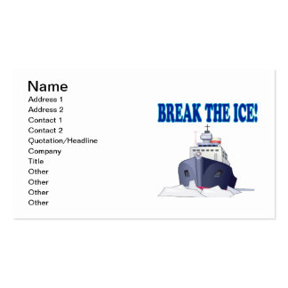 Break The Ice Business Card