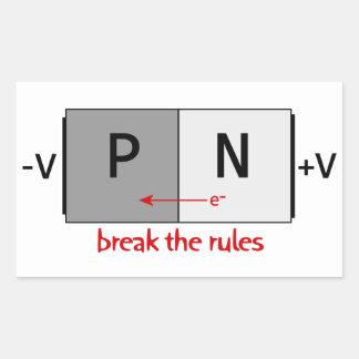 Break the Rules Rectangular Sticker