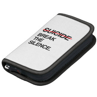 BREAK THE SILENCE ON SUICIDE FOLIO PLANNER