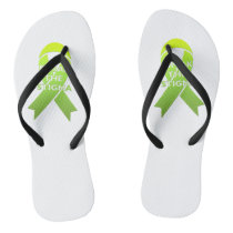 Break the Stigma - Custom Adult, Slim Straps Flip Flops