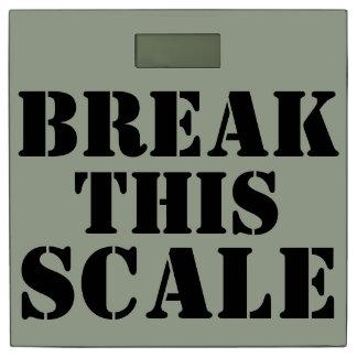 Break This Scale Feedee Scale Bathroom Scale