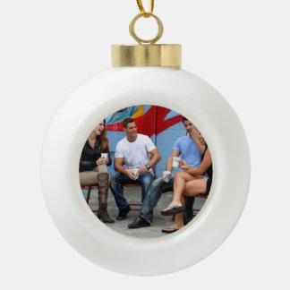 Break Time Ceramic Ball Christmas Ornament