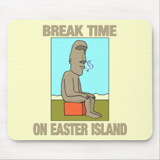 Break time on Easter Island Mouse Pad