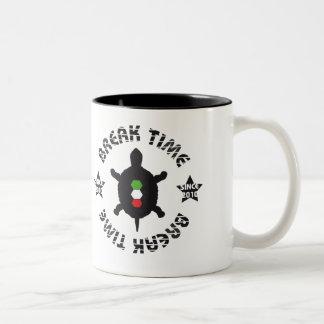Break Time Turtle Two-Tone Coffee Mug