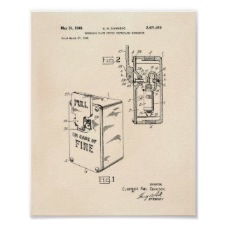 Breakable Plate Switch 1949 Patent - Blueprint Poster