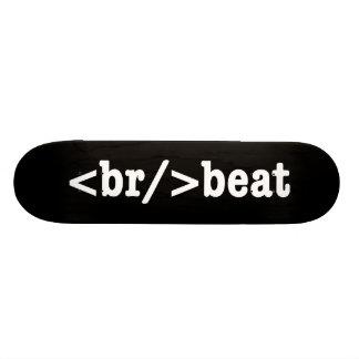breakbeat HTML Skateboard Deck