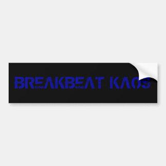 breakbeat kaos bumper sticker