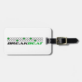 Breakbeat Music Production Pattern Luggage Tag