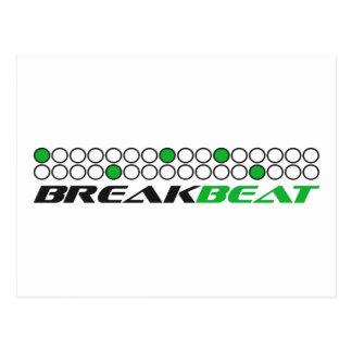 Breakbeat Music Production Pattern Postcard