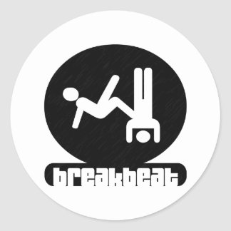Breakbeat-Pegatinas Pegatina Redonda