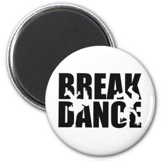 Breakdance 2 Inch Round Magnet