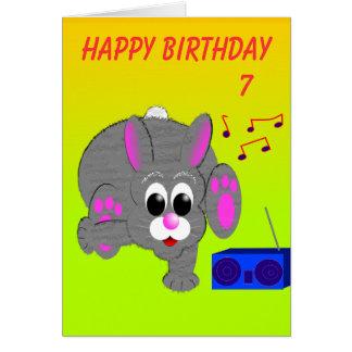 Breakdance Bunny's Birthday Card