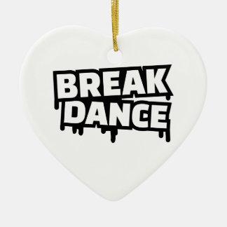 Breakdance Ceramic Ornament
