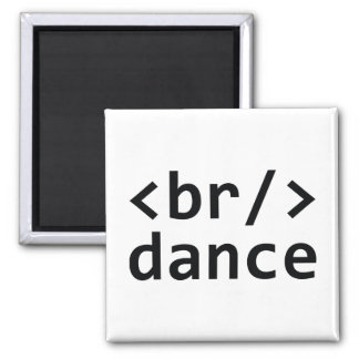 Breakdance Code 2 Inch Square Magnet