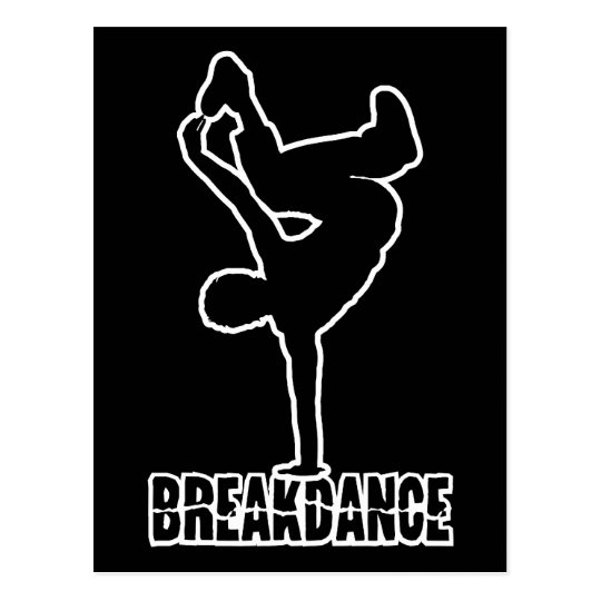Breakdance custom color postcard