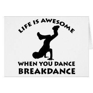 Breakdance Dance Card