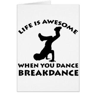 Breakdance Dance Greeting Card