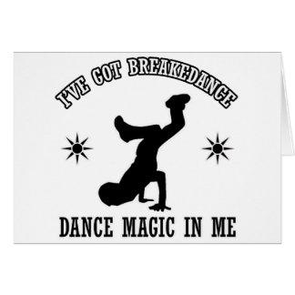 Breakdance Dance design Card
