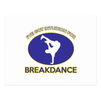 Breakdance dance design postcard