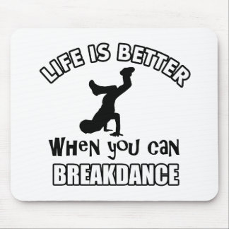 Breakdance dance designs mouse pad