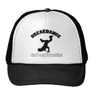 breakdance dance designs trucker hat