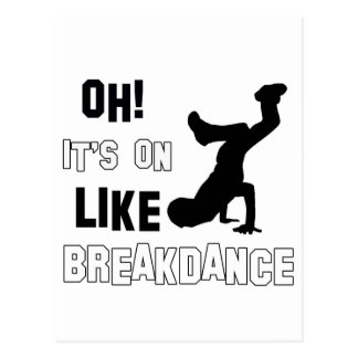 Breakdance Dance Postcard