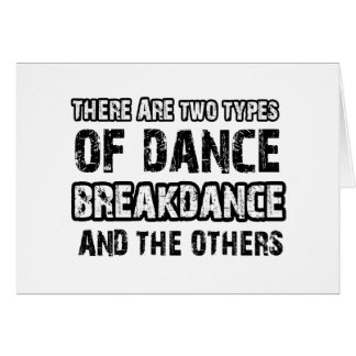 Breakdance dancing designs card
