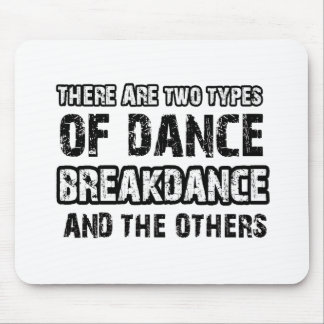 Breakdance dancing designs mouse pad