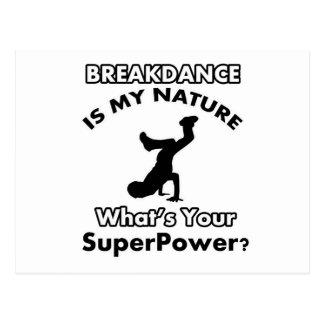 breakdance design postcard