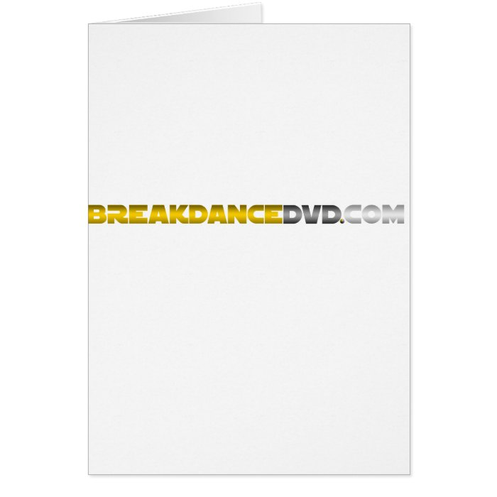 Breakdance DVD Standard Logo Card