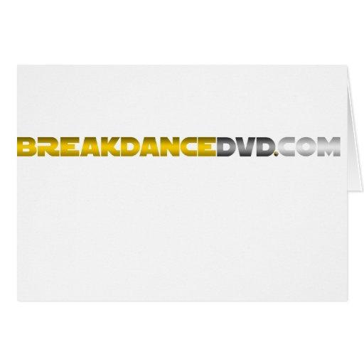 Breakdance DVD Standard Logo Greeting Cards