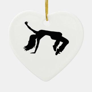 Breakdance girl ceramic ornament