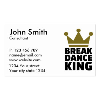 Breakdance King Business Card