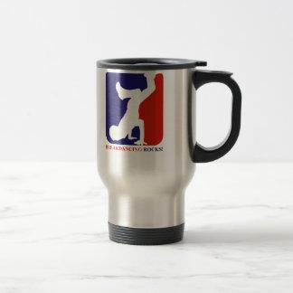 Breakdance rocks designs travel mug