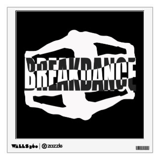 Breakdance Text Design Wall Decal. Designer Wall Decals   Wall Stickers   Zazzle