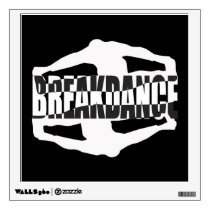 Breakdance Text Design Wall Decal