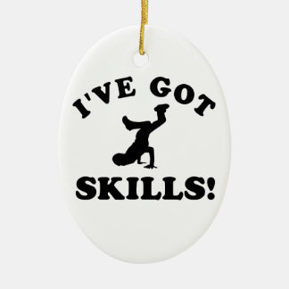 breakdance vector designs ceramic ornament