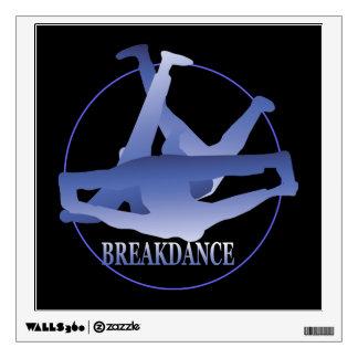 Breakdance Windmill Blue/Black Wall Decal