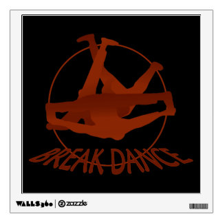 Breakdance Windmill Red/Black Wall Decal