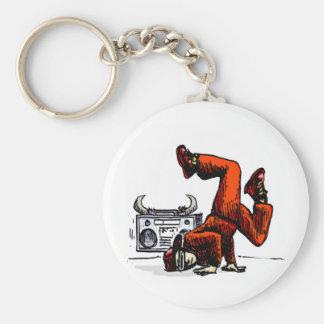 Breakdancer and Box Hip Hop Basic Round Button Keychain