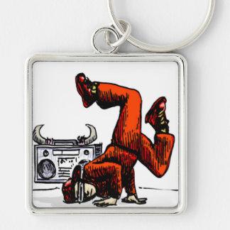 Breakdancer and Box Hip Hop Keychain