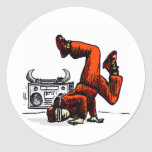 Breakdancer and Box Hip Hop Stickers
