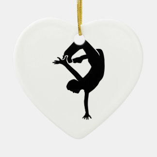 Breakdancer Ceramic Ornament