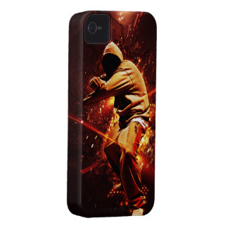 breakdancer del hip-hop en el fuego Case-Mate iPhone 4 protectores