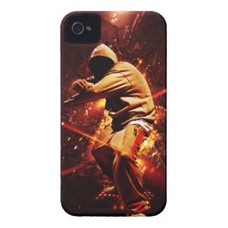 breakdancer del hip-hop en el fuego iPhone 4 carcasas
